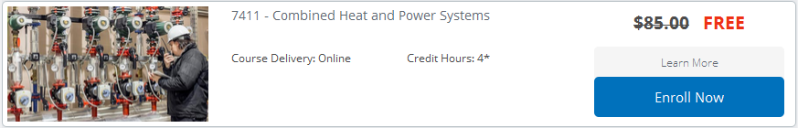 Free Combined Heat and Power Systems Online Class